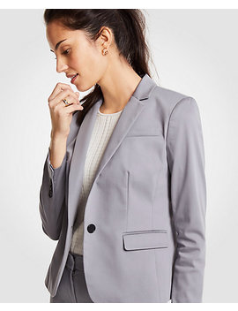 Tall Cotton Sateen One Button Perfect Blazer by Ann Taylor