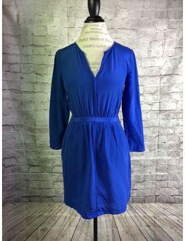 Madewell Blue Silk Index Dress Originally $148 Style E6080 Size 0 Blue V Neck by Madewell