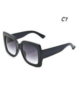 2018 Oversized Square Luxury Sunglasses Gradient Lens Vintage Womens Fashion by Ebay Seller