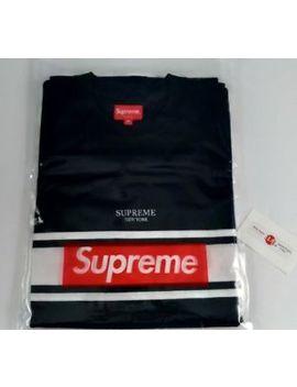 New Supreme Stripe Tee Black Medium M Ss18 Shirt New   On Hand by Supreme