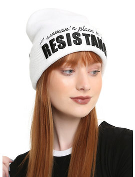 Star Wars A Woman's Place Is In The Resistance Watchman Beanie by Hot Topic