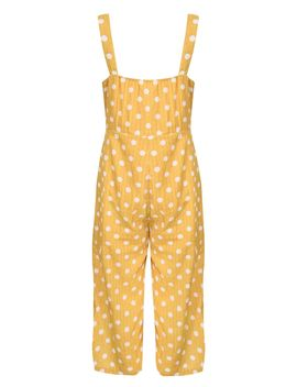 **Button Through Jumpsuit By Glamorous Petite by Topshop