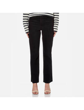 Helmut Lang Women's High Rise Crop Jeans   Black by Helmut Lang
