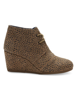 Cheetah Suede Women's Desert Wedges by Toms