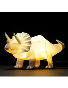 Dinosaur Lamp White Origami Triceratops Night Light By Disaster Designs by Amazon