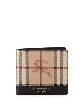 Men's Haymarket Check Bifold Wallet by Burberry