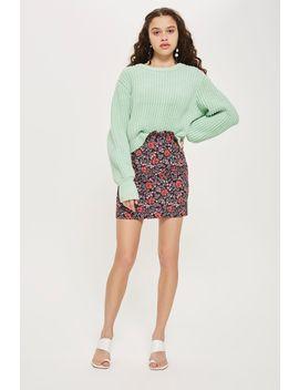 Petite Poppy Jacquard Mini Skirt by Topshop