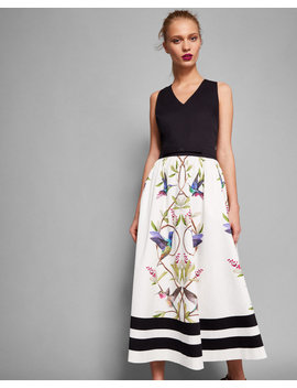 Highgrove V Neck Cotton Midi Dress by Ted Baker
