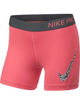 Nike Pro Girls' Gravel Print Boy Shorts by Nike