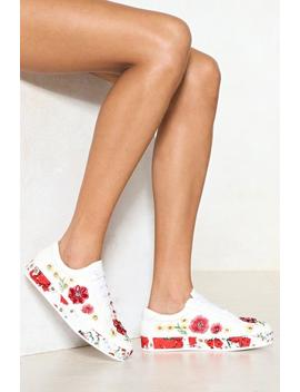 Bud Out Of It Floral Sneaker by Nasty Gal
