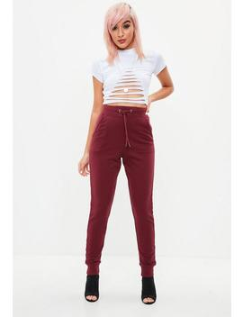 Tall Burgundy Joggers by Missguided