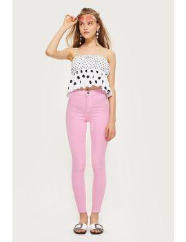 Moto Pink Joni Jeans by Topshop