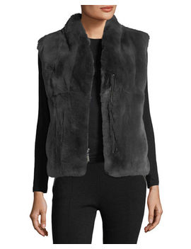Zip Front Fur Vest by Neiman Marcus