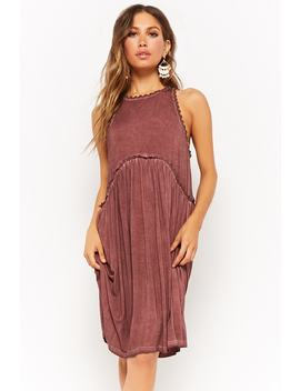 Mineral Wash Sleeveless Dress by Forever 21