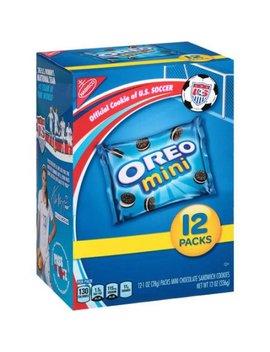 Nabisco Mini Oreo Chocolate Sandwich Cookies Munch Packs, 12 Oz by Oreo