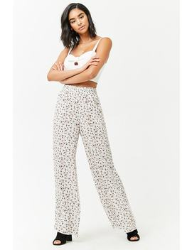 Floral Smocked Pants by F21 Contemporary