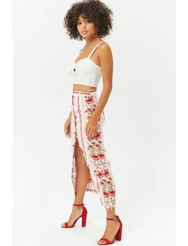 Floral Striped Maxi Skirt by F21 Contemporary