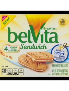 Belvita Breakfast Sandwich Vanilla Yogurt Creme by Belvita