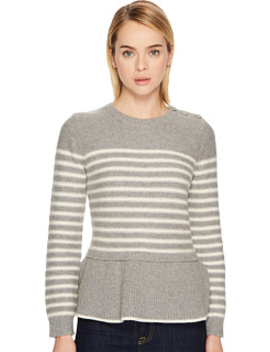 Stripe Peplum Sweater by Kate Spade New York