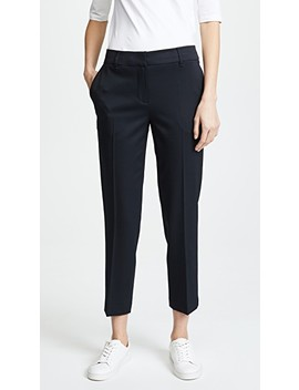 Cigarette Pants With Top Stitch Detail by Jason Wu Grey