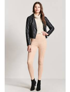 Faux Suede High Rise Trousers by Forever 21