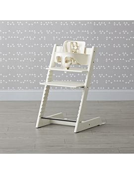White Tripp Trapp® High Chair And Baby Set™ From Stokke® by Crate&Barrel