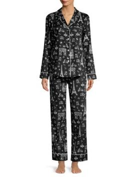 Paris Print Pajama Set by Saks Fifth Avenue