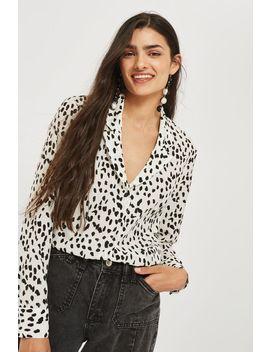 Tall Animal Print Pyjama Shirt by Topshop