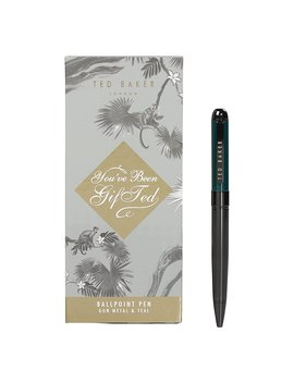Ted Baker Men's Gunmetal And Teal Pen In Gift Box by Amazon