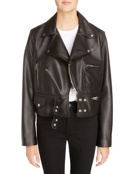 Suokki Leather Moto Jacket by Acne Studios
