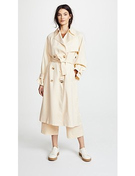 Drapey Satin Trench Coat by Vince