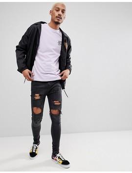 Santa Cruz Long Sleeve T Shirt With Squared Back Print In Lilac by Santa Cruz