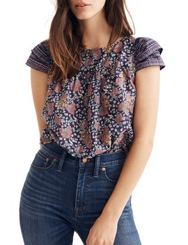 Fan Floral Mix Story Top by Madewell