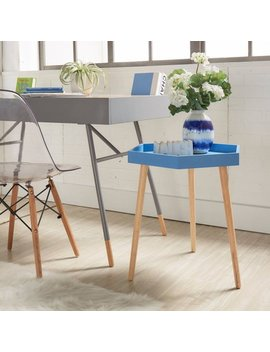 Chelsea Lane Hexagon Tray End Table, Multiple Colors by Generic