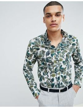 Selected Homme+ Slim Fit Shirt With All Over Print by Selected Homme