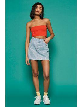 Diamante Denim Skirt by Topshop