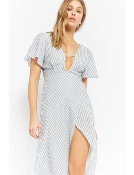 Striped Tulip Dress by Forever 21