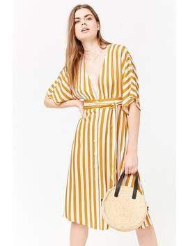 Plunging Striped Dress by Forever 21
