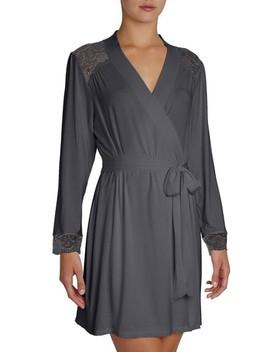'noor' Lace Trim Robe by Eberjey
