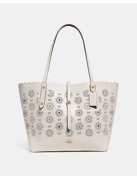 Market Tote With Cut Out Tea Rose by Coach