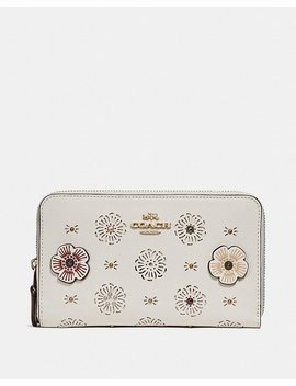 Medium Zip Around Wallet With Cut Out Tea Rose by Coach
