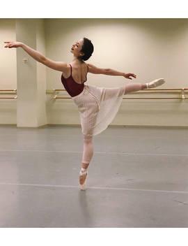 Toi Toi Toi Ballet Wrap Skirt Long Style! Rehearsal, Class, Performance. Tiny Dot Print. by Etsy