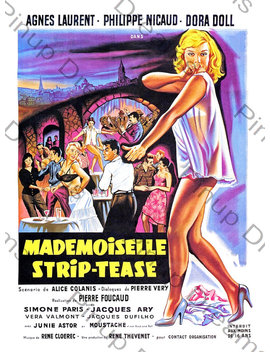 Vintage Burlesque Poster Wall Art Print Mademoiselle Strip Tease Re Print Various Sizes by Etsy