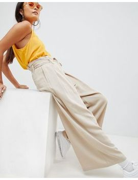 Weekday Paperbag Waist Wide Leg Pants by Weekday