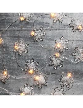 Fairy Lights, Micro Led Lights, Glass Snowflakes, String Lights, Lighting For Bedroom, Nursery Lighting, Wedding Decoration, Wedding Gift by Etsy