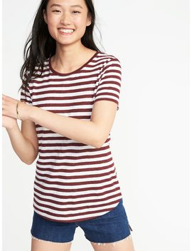 Every Wear Linen Blend Tee For Women by Old Navy