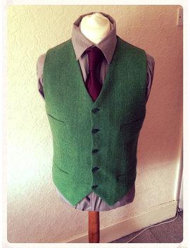Vert Harris Tweed Gilet Mariage Fête Garçons D'honneur Custom Made Gilet Homme Meilleur by Etsy