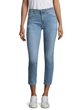Mid Rise Cropped Jeans by Ag