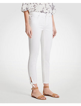 Curvy Ankle Tie Skinny Crop Jeans by Ann Taylor