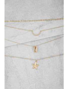 Ocean Avenue Gold Layered Necklace by Tobi